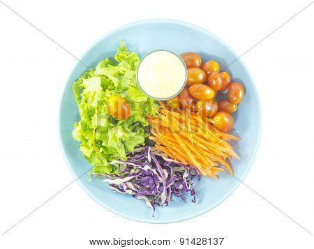 Colorful Vegetable Salad Food With Dressing