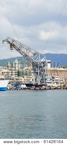 View Of The Harbour in Genoa