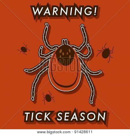 Tick's Season Warning Card