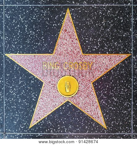 Bing Crosbys Star On Hollywood Walk Of Fame