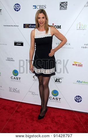 LOS ANGELES - MAY 21:  Mira Sorvino at the 17th From Slavery to Freedom Gala at the Skirball Center on May 21, 2015 in Los Angeles, CA