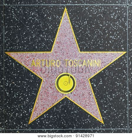 Arturo Toscanini's Star On Hollywood Walk Of Fame