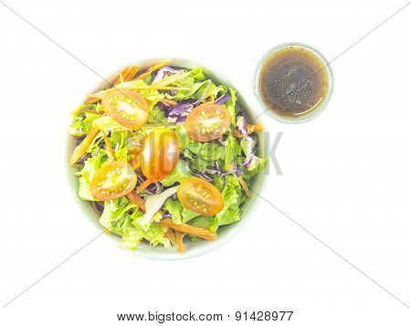 Mixed Salad With Balsamic Dressing Shot