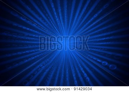 Abstract matrix blue background