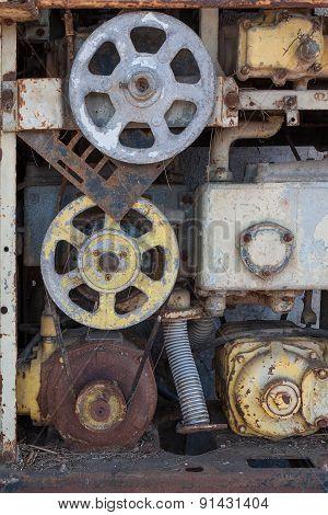 Broken Vntage Fuel Dispenser