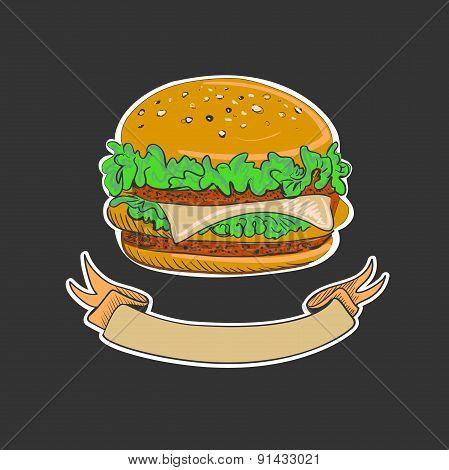 Retro Burgers emblem