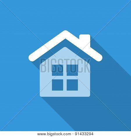 Flat House Icon Background