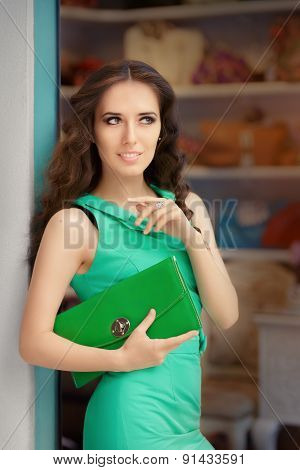 Elegant Woman in Fashion Store