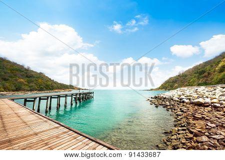 Wooden Walkway At Beach