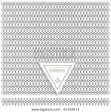 Backgound Of Line Geometric Hipster Vintage Design Elements