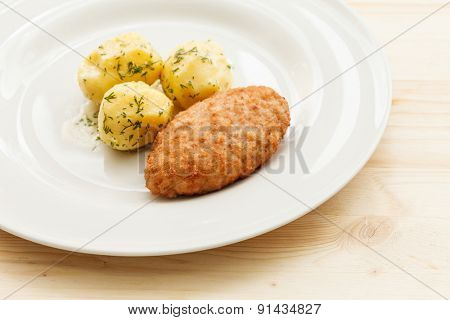 chicken cutlet with potato