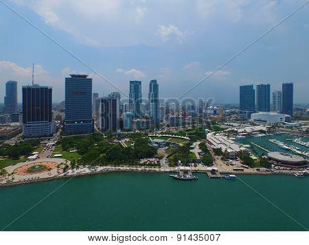 Aerial photo of Downtown Miami