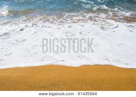 Close Up Of A Golden Shore In Sardinia
