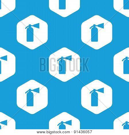 Fire extinguisher hexagon pattern