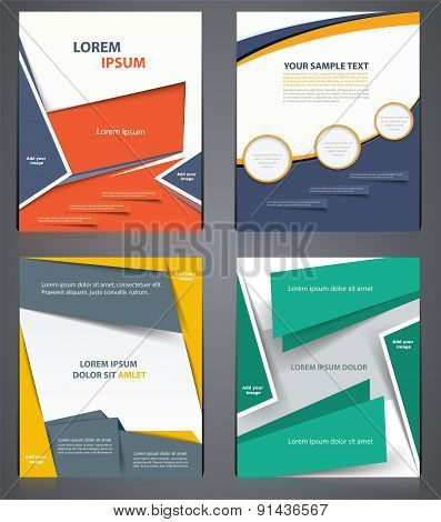 Layout Business  Brochures, Flyer Design Template In A4 Size, Or Magazine Cover, Abstract Modern Bac