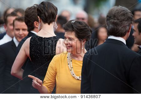 Isabella Rossellini and guests attend the 'Sicario' Premiere during the 68th annual Cannes Film Festival on May 19, 2015 in Cannes, France.