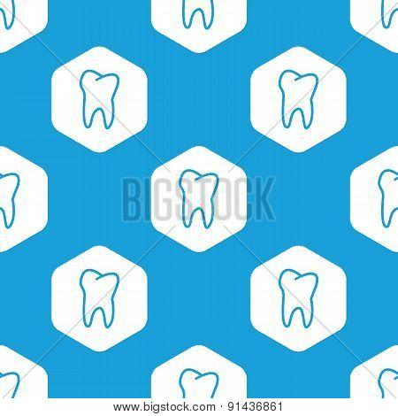 Tooth hexagon pattern