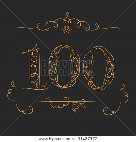 Anniversary 100th signs