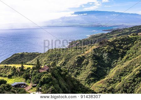 The coast along North Shore in Maui, Hawaii