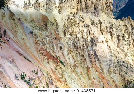 Detail Scenic View At Grand Canyon Of Yellowstone