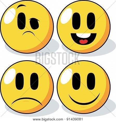 Cartoon Smiley Faces.