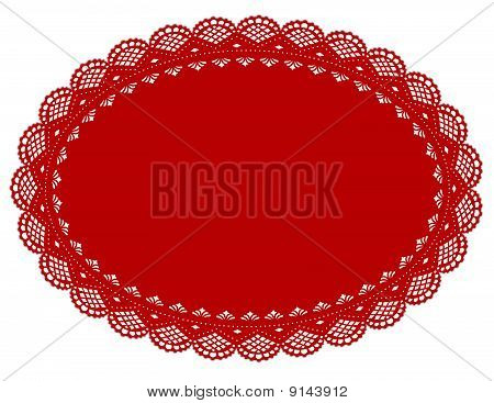 rote Spitze Doily mat