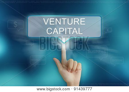 Hand Clicking On Venture Capital Button