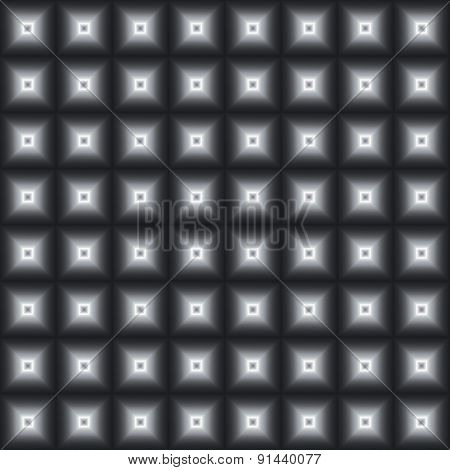 Black-and-white Seamless Background From Squares.