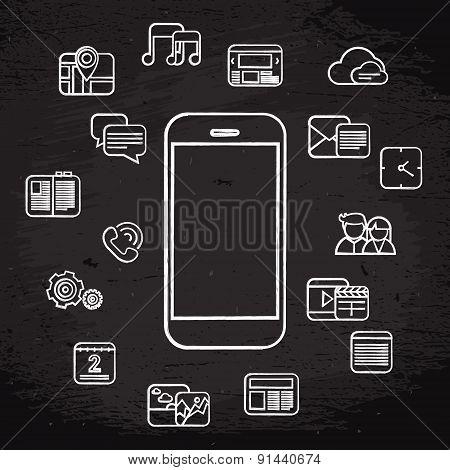 White Phone Icons
