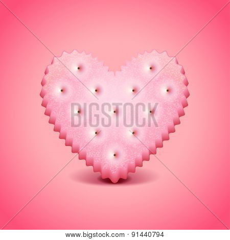 Heart-shaped Cracker Vector Background
