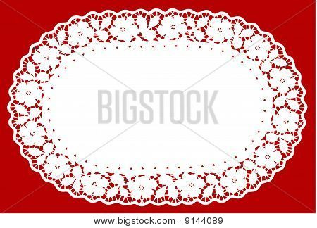 White Lace Mat