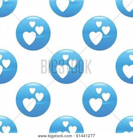 Three hearts sign pattern