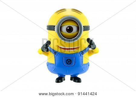 Minions Toy Isolated On White Background