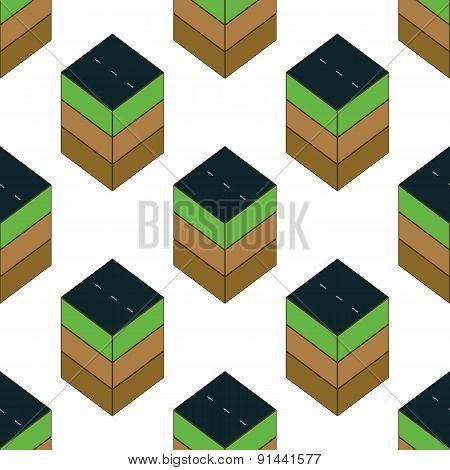Piece of road pattern