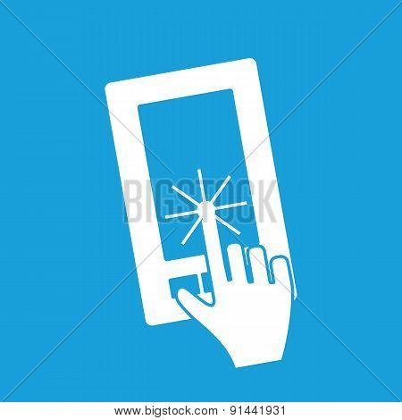 Touching screen icon
