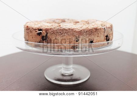 Blueberry Coffee Cake on Cake Stand