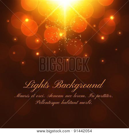 Abstract Dark Festive Background