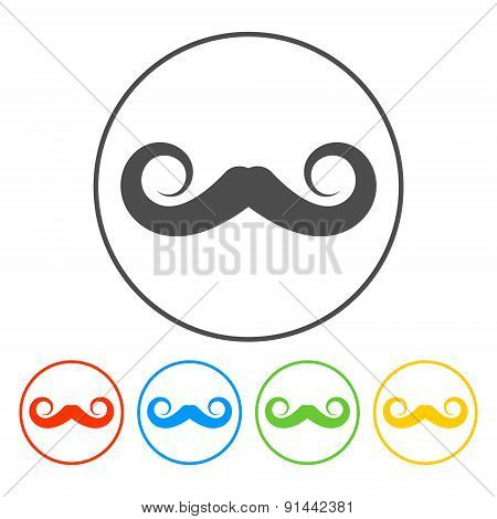 Mustaches Vector Icon