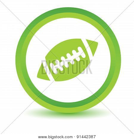 Rugby ball volumetric icon
