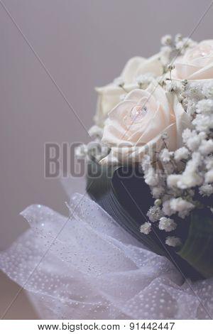 White Wedding Bouquet Closeup
