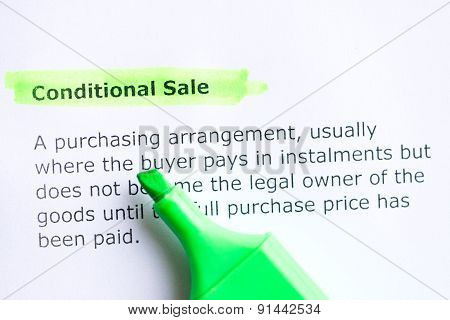 Conditional Sale
