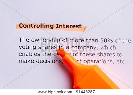 Controlling Interest