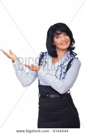 Executive Woman Making A Presentation