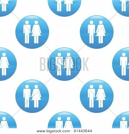 Man and woman sign pattern