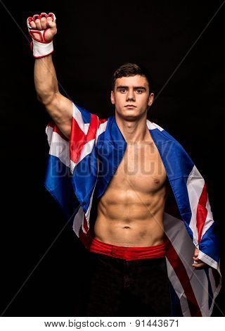 Male model. Kickboxing