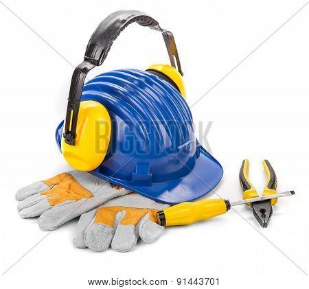 Safety helmet gloves.