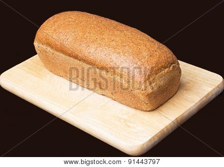 Bread on black background.