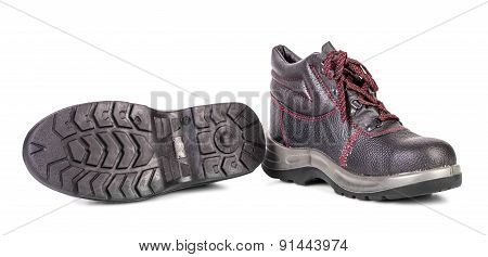 Black sport boots.