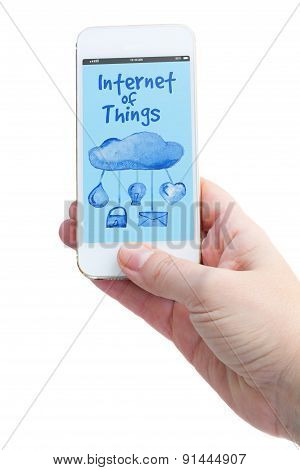 phone with internet of things screen