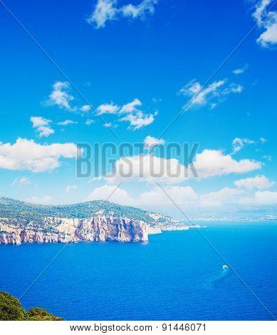 Sardinia Coastline Seen From Capo Caccia